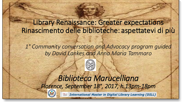 Convegno «Libraries renaissance: greater expectations»
