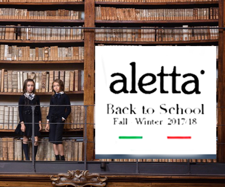 Campagna Autunno/Inverno 2017/18 BACK TO SCHOOL per ALETTA
